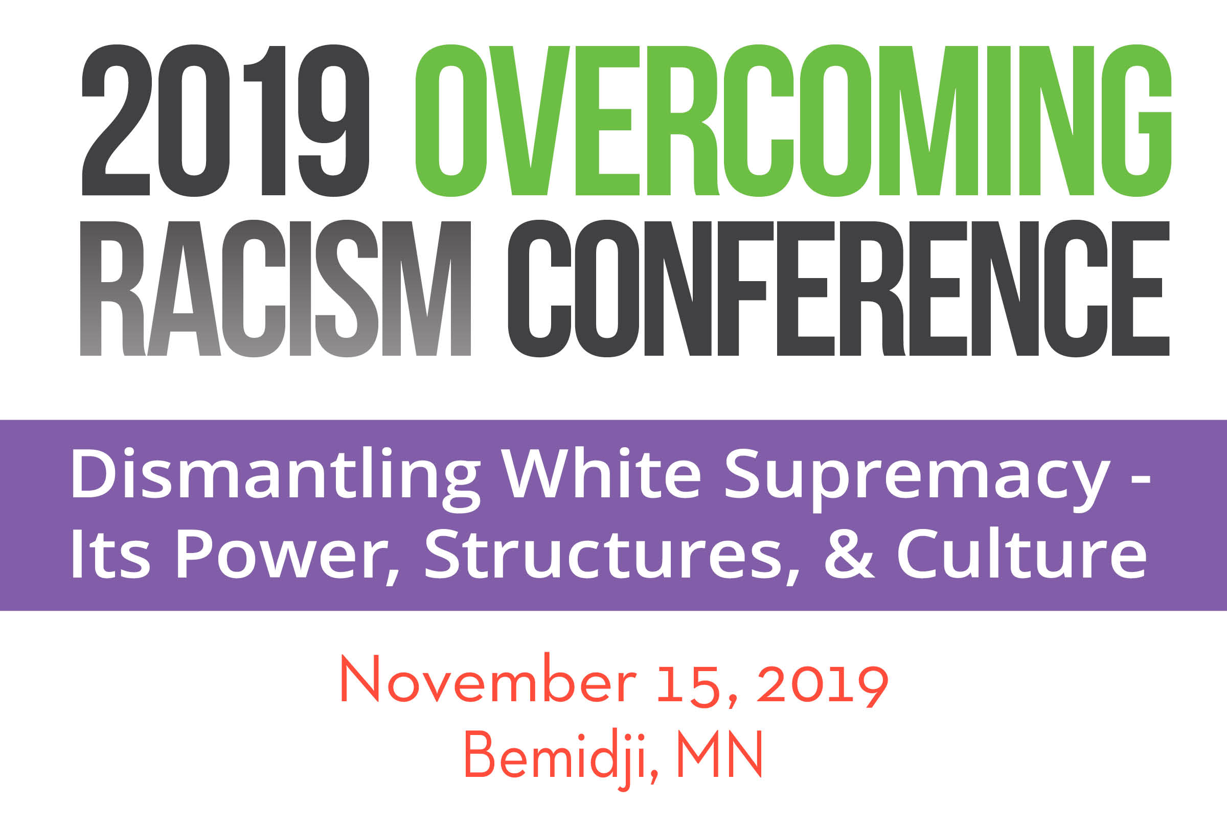 2019 Bemidji Overcoming Racism Conference Banner